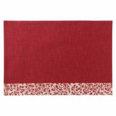 百道発信 祝唐草ランチョンマット 赤 (IKI-1371) リバーシブル 福岡県の布製品 Fabric place mat