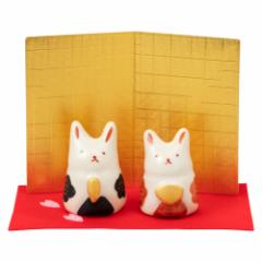 赤絵兎雛 (HK864) スタジオRR 瀬戸焼のお雛さま 桃の節句 Setoyaki Hina dolls