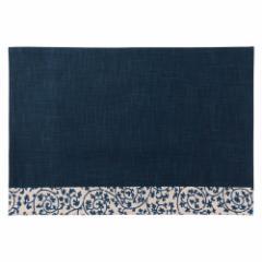 百道発信 祝唐草ランチョンマット 紺 (IKI-1371) リバーシブル 福岡県の布製品 Fabric place mat