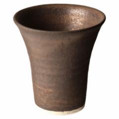 信楽焼ビアカップ 金 泡立ちクリーミーな陶器ビールグラス フリーカップ 作者:中村文夫(なか工房) 滋賀県の工芸品 Beer cup, Sh