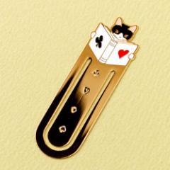 ブックマーカー(しおり) 読書9 トランプ (BM-09) ポタリングキャット Cat bookmark, Pottering cat