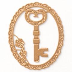 プチクリ 鍵《愛・富・健康の象徴》 ゴールド(PC037) ラッキーモチーフシリーズ 10個入り