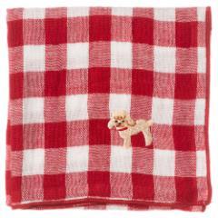 わんこハンカチ トイプードル スーベニール Handkerchief of dog pattern
