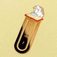 ブックマーカー(しおり) 読書10 ルーペ (BM-10) ポタリングキャット Cat bookmark, Pottering cat