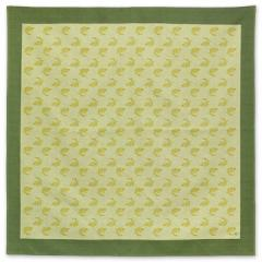 京都 あらいそ 綿風呂敷三巾 荒磯文様 緑 103cm