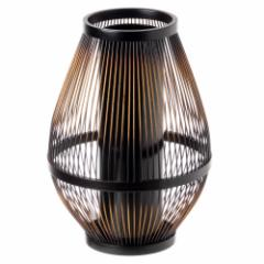 駿河竹千筋細工 花器 なつか(塗り) 静岡県伝統工芸品 黒田雅年 作 Suruga-takesensuji-zaiku, Vase made of bamboo sticks