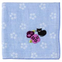 和の花ハンカチ 紫陽花 花柄 刺繍入りガーゼハンカチ スーベニール Japanese pattern embroidered gauze handkerchief