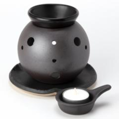 茶香炉 丸型 (2148-1-86) 茶葉の香りを楽しむアロマグッズ 常滑焼 愛知県の工芸品 Tea incense burner, Tokoname-yaki