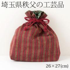 秩父縞 巾着袋03 埼玉県秩父の工芸品 Drawsting bag, Saitama chichibu craft
