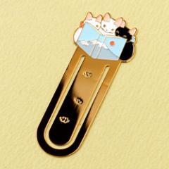 ブックマーカー(しおり) 読書13 富士山 (BM-13) ポタリングキャット Cat bookmark, Pottering cat