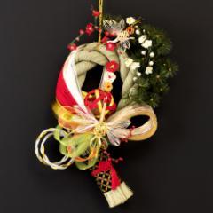 正月飾り 注連飾り 竹治郎 雪月風花 毬双鶴(まりそうかく) 新潟県南魚沼の正月飾り 25000サイズ Japanese New Year decoration