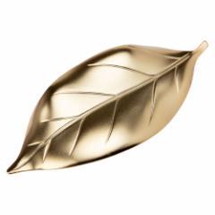 ステンレス箸置き 葉っぱ ツヤ消しゴールド 新潟県の金属製品 Stainless steel chopstick rest