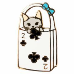 ピンズコレクション トランプバッグ2 (PZ-55) ポタリングキャット Cat pins, Pottering cat