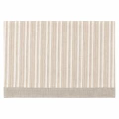 百道発信 ラタン ランチョンマット アイボリー (IKI-1436) 45×31cm 福岡県の布製品 Fabric place mat, Fukuoka craft