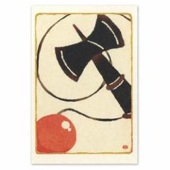 和道楽 和風版画風ポストカード しろたえ けん玉(1枚)