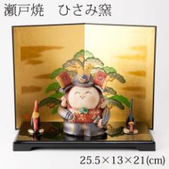 ひさみ窯 民芸錦 武者飾り (MK127) 瀬戸焼の皐月飾り 端午の節句・五月人形 Setoyaki Satsuki ornament