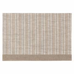 百道発信 ラタン ランチョンマット グレージュ (IKI-1436) 45×31cm 福岡県の布製品 Fabric place mat, Fukuoka craft