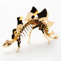 恐竜組み立てキット ステゴサウルス (Z004) ゴールド仕上げ 金属製の工作キット 対象年齢:12歳以上 Dinosaur model assembly kit