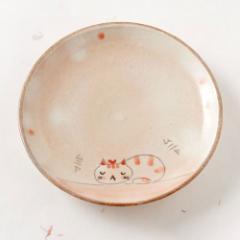 ムニャ猫 お皿 (K3421) Middle plate, Munya neko ※在庫限り