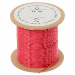 結紙(むすぶかみ) 赤 紙の糸 紙製水引 10m巻 紙匠雑貨エモジ Paper thread