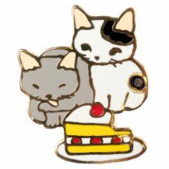 ポタリングキャット ピンズコレクション ショートケーキ(PZ-45)