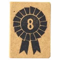 ロゼットはんこ「8」 ステーショナリーを彩る消しゴムはんこ ただのやまもと Rosette hanko stamp