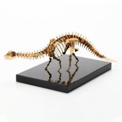 恐竜組み立てキット+飾り台セット ブロントサウルス (Z003) ゴールド仕上げ 金属製の工作キット 対象年齢:12歳以上 Dinosaur mode