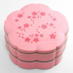 二段重箱 桜7.5オードブル 桜舞ピンク シール蓋付き (6R-510)