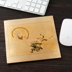 漆芸マウスパッド 風神雷神 ゴールド (2V-719)