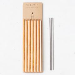 ヒトテマキット えんぴつ けずってみがいて自分でつくる木製文具工作キット Wooden pencil craft kit