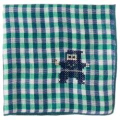 JAPANステッチハンカチーフ ニンジャ 刺繍入りガーゼハンカチ スーベニール Japanese pattern embroidered gauze handkerchief