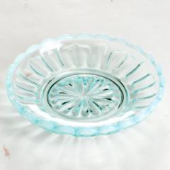 廣田硝子 雪の花 豆皿 ブルー(2239)