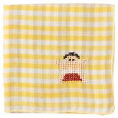 JAPANステッチハンカチーフ スモウ 刺繍入りガーゼハンカチ スーベニール Japanese pattern embroidered gauze handkerchief