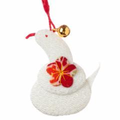 京都夢み屋 十二支根付 巳 -へび- (YE15-15) ちりめん細工の干支小物 Japanese zodiac accessory of crepe fabric