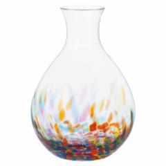 津軽びいどろ 徳利・ねぶた流し (F-71855) ガラス酒器 青森県の工芸品 Sake bottle, Aomori craft