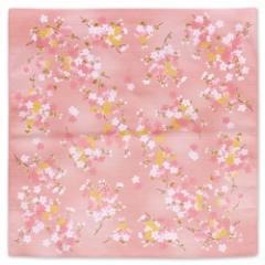 宇野千代シリーズ綿風呂敷 桜が大好き 二四巾 舞桜 ピンク