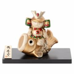 鯉のぼり乗り武者・金 (MK163) 瀬戸焼の皐月飾り 端午の節句・五月人形 Boys festival decoration, Setoyaki, Aichi craft