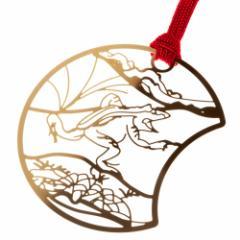 鳥獣戯画しおりF かえるのかけっこ (CJG006) 金の栞シリーズ 24K表面加工 金属製ブックマーカー Metal bookmark, Choju-giga