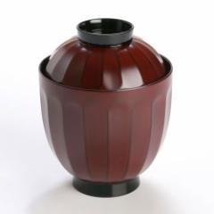 【蓋付き椀】菊割小吸椀 古代根来 5客 (MA-320) Bowl with lid