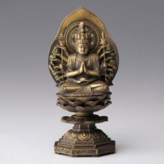 仏像・八体仏 高岡鋳物 千手観音菩薩 15cm (BZ-001) 子年生まれのお守本尊 インテリア鋳造仏 Casting Buddha statue Takaoka imono S