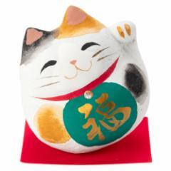 桐のこ人形 丸招き猫 ミケ 木之本 福島県の工芸品 Lucky cat, Fukushima craft
