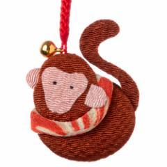 京都夢み屋 十二支根付 申 -さる- (YE15-18) ちりめん細工の干支小物 Japanese zodiac accessory of crepe fabric