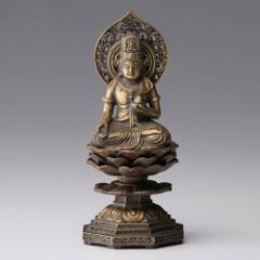 仏像・八体仏 高岡鋳物 虚空蔵菩薩 15cm (BZ-002) 丑・寅年生まれのお守本尊 インテリア鋳造仏 Casting Buddha statue Takaoka imono