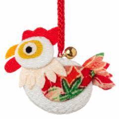 京都夢み屋 十二支根付 酉 -とり- (YE15-19) ちりめん細工の干支小物 Japanese zodiac accessory of crepe fabric