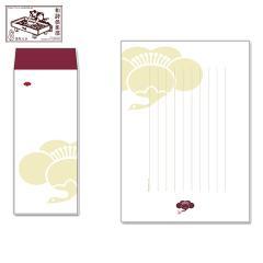 レターセット 徒然箋 鶴梅(便箋20枚+封筒5枚セット) (TS-001) 和詩倶楽部