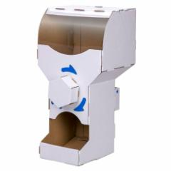 ダンボール工作キット カプセルガチャ のりもはさみも使わずに組み立てられるペーパークラフト Cardboard craft kit
