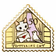 ピンズコレクション 伝書鳩 (PZ-29) ポタリングキャット Cat pins, Pottering cat