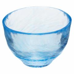 津軽びいどろ 出汁碗 ブルー (F-62936) そうめん・ひやむぎ・うどんなど麺類のつゆ鉢に ガラス食器 青森県の工芸品 Small bowl, Ao