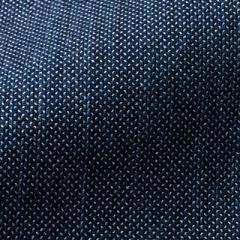 小島屋 藍染め織物 刺子織生地素材 ホワイトミックス ディープインディゴ 1mカット 綿100% 武州正藍染 埼玉県の工芸品 Indigo d