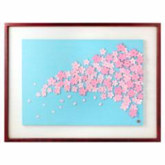 木彫りアート・レリーフ シリーズ「春」さくら 彫刻 壁掛け 作者:鈴木龍泉 埼玉県の木工作品 Wooden relief, Cherry Blossom, Ryu